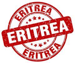 Eritrea red grunge round vintage rubber stamp - stock illustration