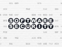 Safety concept: Software Security on wall background - stock illustration