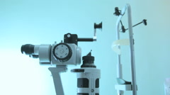 Special Ophthalmic instrument to check the retina  - stock footage