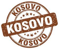 Kosovo brown grunge round vintage rubber stamp Stock Illustration