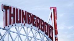 Coney Island Luna Park establishing shot - stock footage