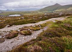 The Dingle mountains on a windy day - stock photo