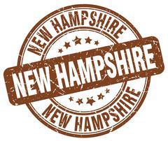 New Hampshire brown grunge round vintage rubber stamp Stock Illustration