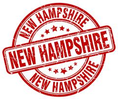 New Hampshire red grunge round vintage rubber stamp Stock Illustration