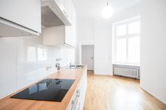 Modern kitchen - real estate interior Stock Photos