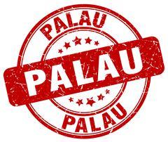 Palau red grunge round vintage rubber stamp Stock Illustration