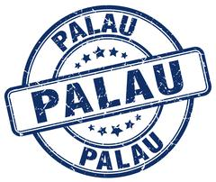 Palau blue grunge round vintage rubber stamp Stock Illustration