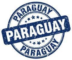 Paraguay blue grunge round vintage rubber stamp Stock Illustration
