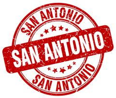 San Antonio red grunge round vintage rubber stamp Stock Illustration