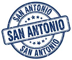 San Antonio blue grunge round vintage rubber stamp Stock Illustration