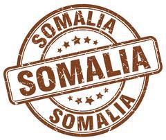 Somalia brown grunge round vintage rubber stamp Stock Illustration