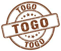 Togo brown grunge round vintage rubber stamp Stock Illustration