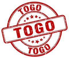 Togo red grunge round vintage rubber stamp Stock Illustration