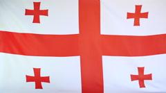 Textile flag of Georgia Stock Footage