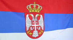Serbia flag in slow motion - stock footage