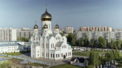 Russian Christian Church, Trinity-St Volodymyr's Cathedral, Time lapse. - stock footage