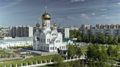 Russian Orthodox Church, Trinity-St Volodymyr's Cathedral, Time lapse. Stock Footage