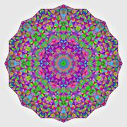 Colorful Circle Kaleidoscope Backdrop. Mosaic Abstract Flower Stock Illustration
