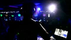Girl-DJ's in the Club Stock Footage
