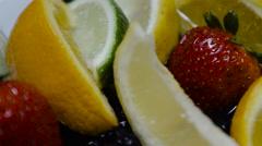 Mixed Fruit closeup establishing shot Stock Footage