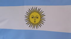 Closeup of an Argentine flag Stock Footage