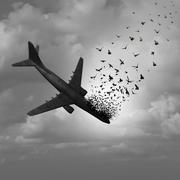 Plane Disappearance - stock illustration