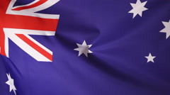 Closeup of an Australian flag - stock footage