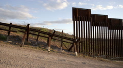 US Border Wall Ends Stock Footage