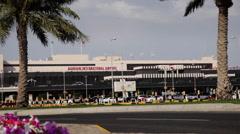Bahrain Internacional Airport - Exterior 04 Stock Footage