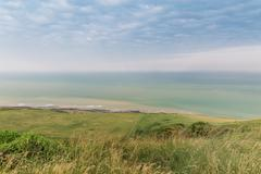 Popular Beachy Head Atlantic ocean coast, Wes Sussex, England, United Kingdom - stock photo