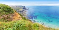 Popular Heritage Coast Atlantic ocean, Cornwall, England, United Kingdom - stock photo