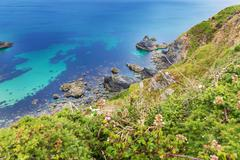 Popular Heritage Coast Atlantic ocean, Cornwall, England, United Kingdom Stock Photos