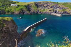 Popular Port Issac Atlantic ocean coast, Cornwall, England, Unit - stock photo