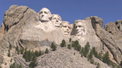 Mount Rushmore National Memorial Stock Footage
