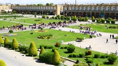 In iran   the old square Stock Footage