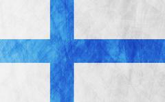 Finnish grunge flag background - stock illustration