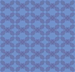 Blue flourish pattern background - stock illustration