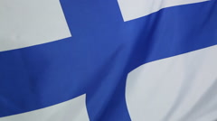 Closeup of a Finnish flag - stock footage