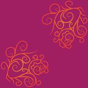 Colorful grunge flourish background - stock illustration
