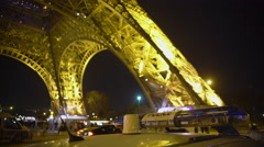 Police guard public order near Eiffel Tower, anti-terrorism measures in Europe Stock Footage