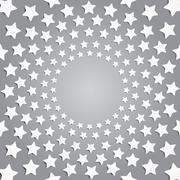 Grey stars in a circle with shadow. Eps 10. - stock illustration