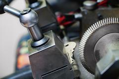 Key copying machine - stock photo