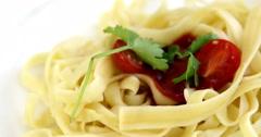 Focus on Pasta Stock Footage