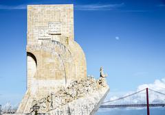 Detail of Monument Descombrimentos Lisbon, Portugal - stock photo
