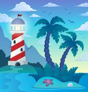 Tropical island theme image - eps10 vector illustration. Piirros