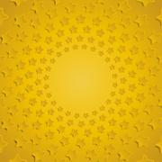 Yellow stars in a circle with shadow. Eps 10. Stock Illustration