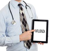 Doctor holding tablet - Influenza Stock Photos