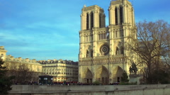 Medieval abbey church Basilica of Saint Denis in Paris, antique architecture Stock Footage