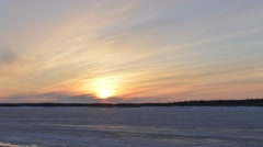Time-lapse photography of sunset in Siberia on the Yamal Peninsula Stock Footage