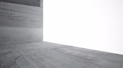 Empty dark abstract concrete room interior - stock footage